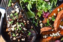 Bourbon Chipotle Steak with Sweet Potato Mojos