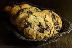 Colossal  Browned Butter Chocolate Chunk Cookies with Fleur de Sel