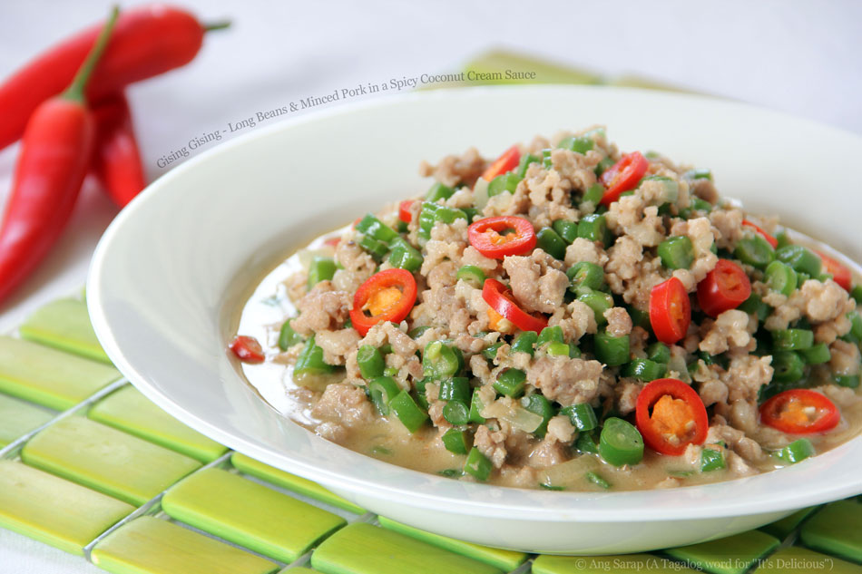 Gising Gising – Long Beans and Minced Pork in a Spicy Coconut Cream Sauce