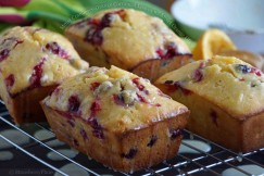 Moist Cranberry-Orange Cornmeal Loaves with Sweet Orange Glaze