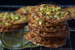 Pistachio, Orange and Honey Florentine Lace Cookies