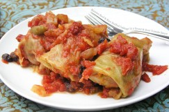 Russian Beef and Rice Stuffed Cabbage in a Sweet and Sour Tomato Sauce