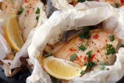 Sweet Chile and Lemon Cod En Papillote