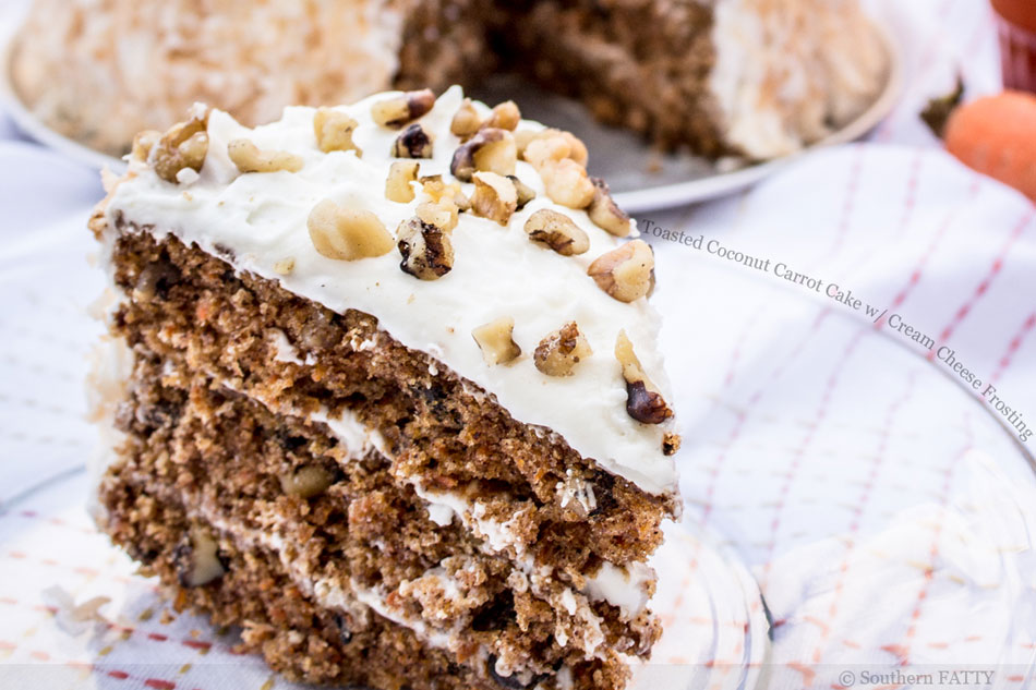 Toasted Coconut Carrot Cake with Cream Cheese Frosting