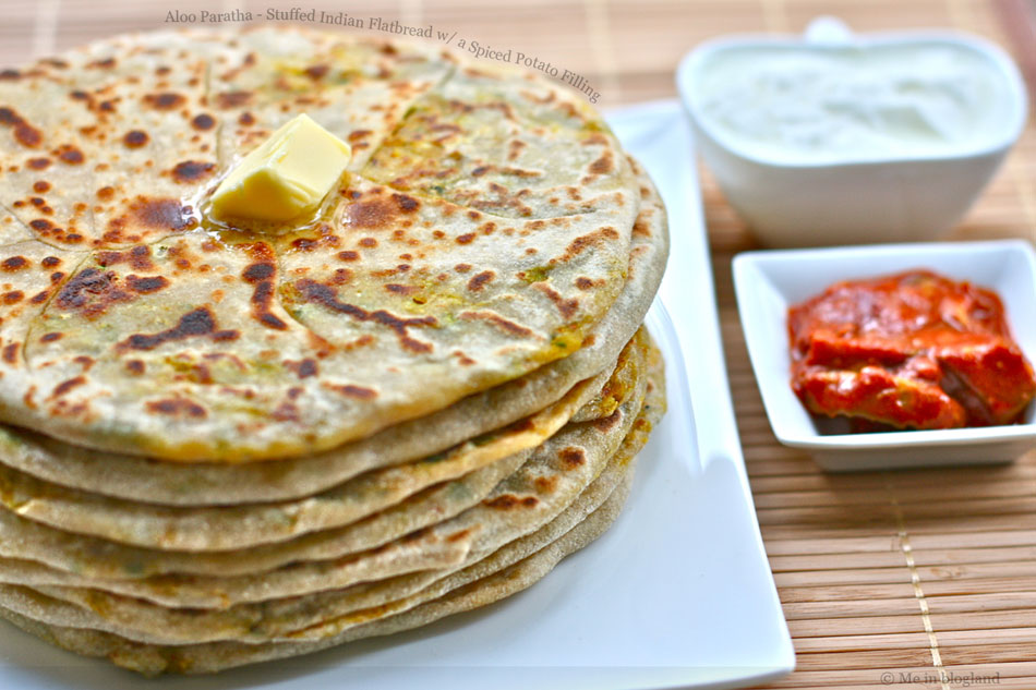 Aloo Paratha – Stuffed Indian Flatbread wth a Spiced Potato Filling