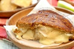 Apple Pie Grilled Cheese Oozing with Brie and Mascarpone