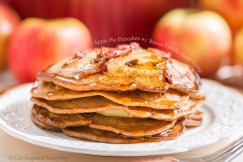 Apple Pie Pancakes with Bacon Vanilla Bean Syrup