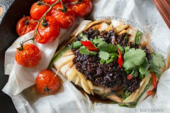 Aromatic Baked Cod with Chinese Black Bean Sauce