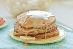 Banana Bread Pancakes with Sweet Maple Butter