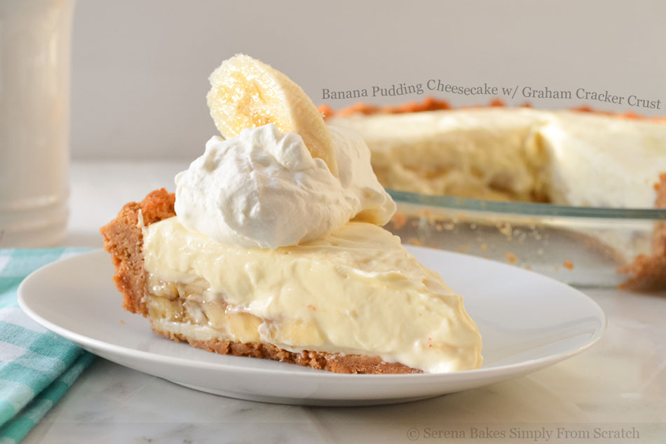 Banana Pudding Cheesecake with Graham Cracker Crust