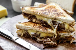 Bbq Beef Brisket, Gruyere, Smoked Cheddar and Mozzarella Grilled Cheese
