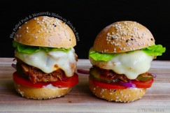 Bbq Pulled Pork and Mozzarella Sliders on Brioche Buns