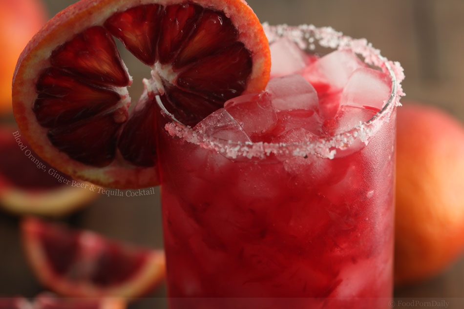 Blood Orange, Ginger Beer and Tequila Cocktail