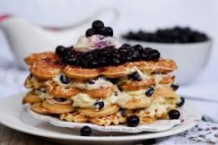 Blueberry Waffle Cheesecake