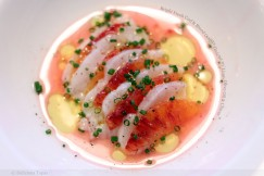 Bright Fresh Cod and Blood Orange Ceviche with Lime, Olive Oil and Chives