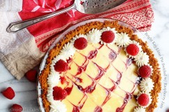 Bright Key Lime Pie Swirled with Raspberry Jam