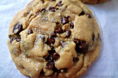 Brown Butter, Salted, Peanut Butter Chocolate Chip Cookies