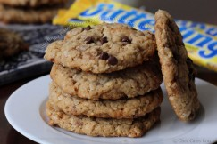 Butterfinger Peanut Butter Chocolate Chip Oatmeal Cookies