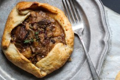 Buttery Galette Stuffed with Braised Pork, Parsnips and Shiitakes