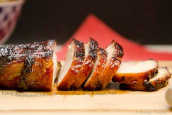 Candy Red Roasted Sweet Cantonese Char Siew Roasted Pork