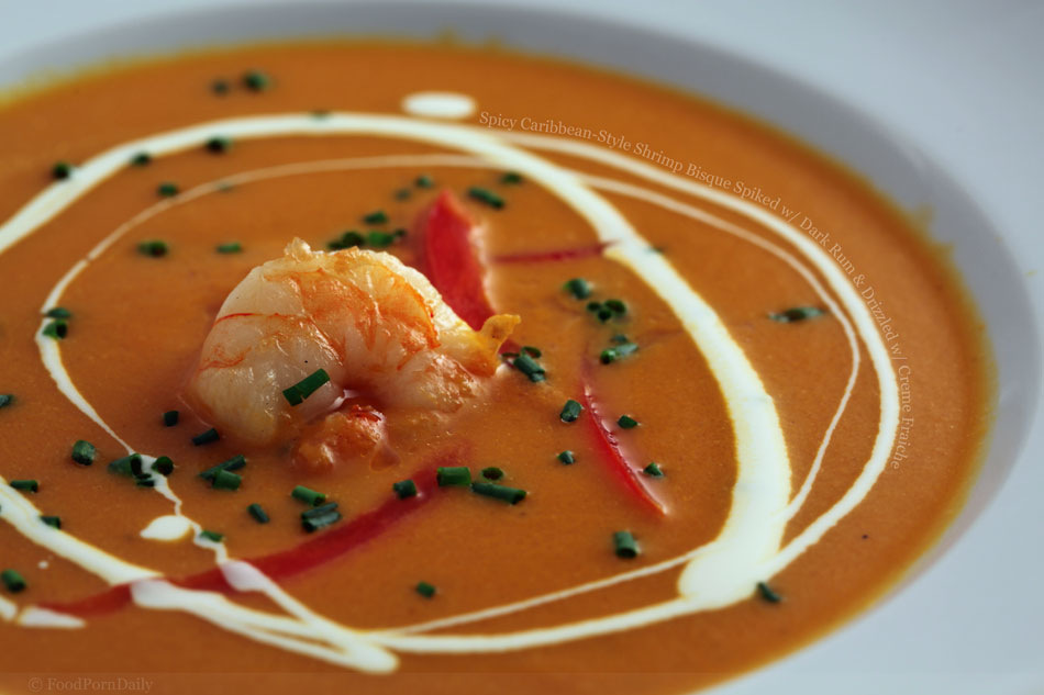 Spicy Caribbean-Style Shrimp Bisque Spiked with Dark Rum ...