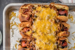 Char-Grilled Hot Dogs Smothered with Chili and Cheese