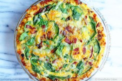 Cheesy Bacon and Spinach Quiche with Hash Brown Potato Crust