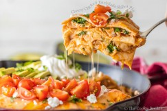 Cheesy Chicken Enchilada Skillet Pie