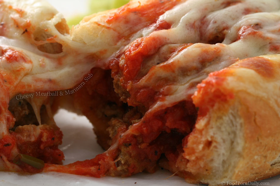 Cheesy Meatball and Marinara Sub