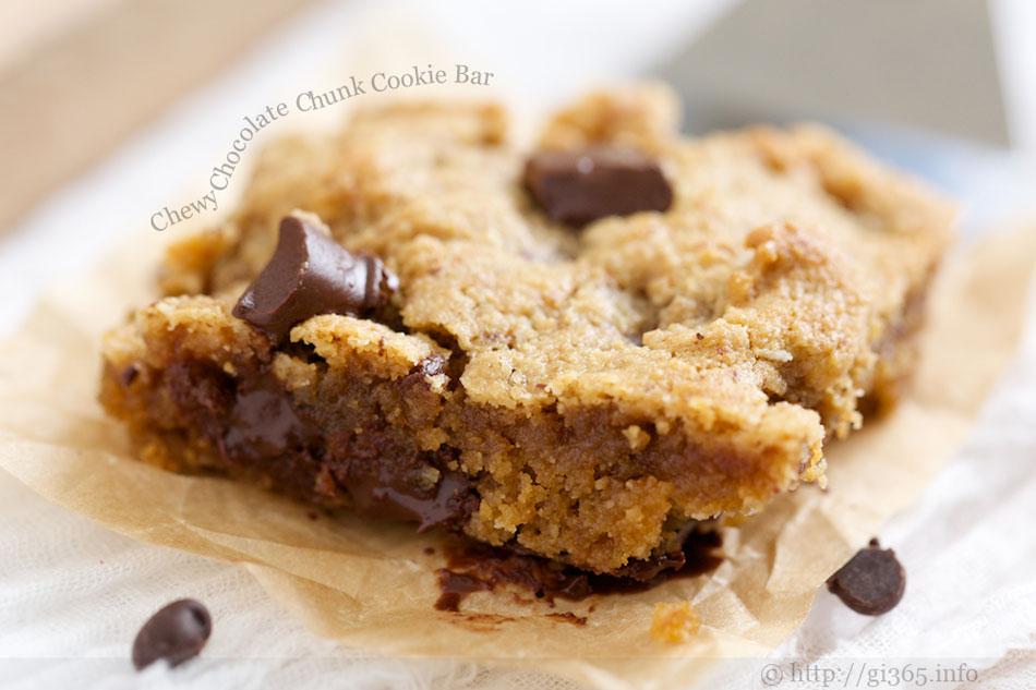 Chewy Chocolate Chunk Cookie Bar
