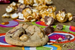 Chewy Cookies with Milk Chocolate, Almonds, Caramel Corn and Sea Salt