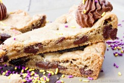 Chewy Gooey Brown Butter Chocolate Chunk Cookie Cake