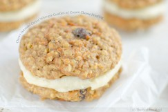 Chewy Oatmeal Carrot Whoopie Cookies with Cream Cheese Frosting