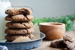 Chewy Salted Bacon Fat Ginger Molasses Cookies