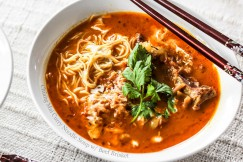 Chiang Mai Curry Noodle Soup with Beef Brisket