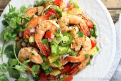 Cilantro Lime Grilled Shrimp with Spicy Pineapple Salsa