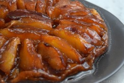 Classic French Tarte Tatin with Gooey Caramelized Apples in a Buttery Pastry Crust