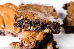Classic Fudgy Brownies Studded with Walnuts
