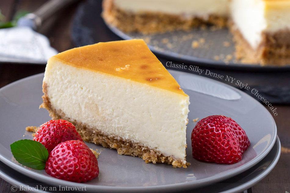 Classic Silky Dense NY Style Cheesecake