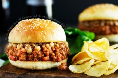 Classic Sloppy Joes with Caramelized Onions on Buttered Buns