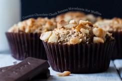 Coconut Chocolate Chunk Banana Macadamia Nut Muffins