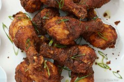 Country Fried Sriracha Marinated Chicken Legs