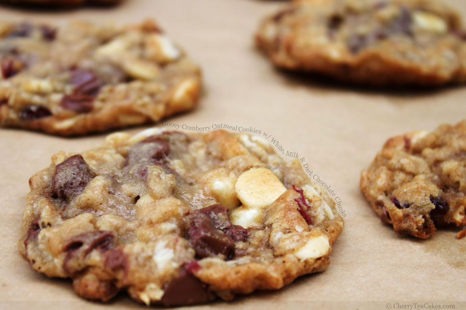 Dark Chocolate Cranberry And Oatmeal Cookies