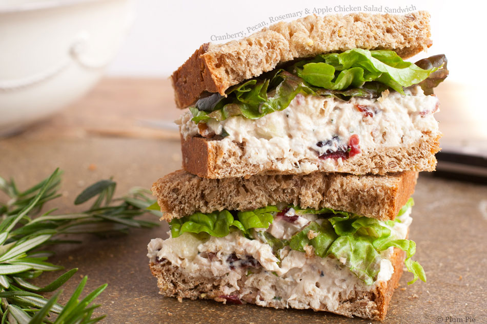 Cranberry, Pecan, Rosemary and Apple Chicken Salad Sandwich ...