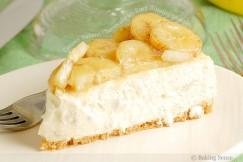 Creamy Banana Cheesecake with Rum Roasted Bananas