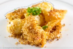 Creamy Cheddar and Amber Ale Macaroni and Cheese with Crunchy Panko Topping