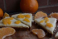 Creamy Minneola Orange Ricotta Cheesecake Bars with Graham Cracker Crust