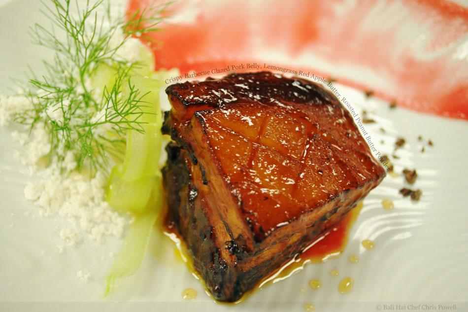 http://foodporndaily.com/pictures/crispy-barbecue-glazed-pork-belly-lemongrass-red-apple-butter-roasted-peanut-butter-powder.jpg