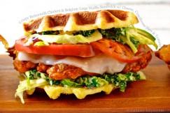 Crispy Buttermilk Chicken & Belgium Liege Waffle Sandwich w/ Cheese, Cruciferous Slaw & Tomato