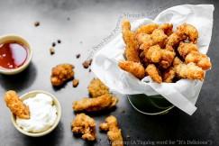 Crispy Deep-Fried Popcorn Shrimp and Tartar Sauce